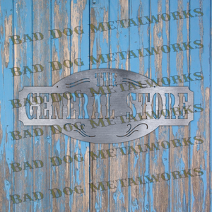 The General Store Sign - Dxf and Svg