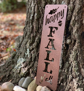 Happy Fall Y'all Plaque