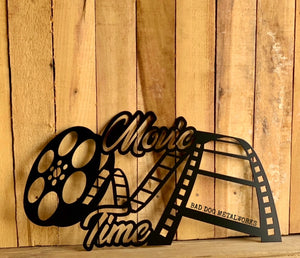 Movie Time Film Reel - Home Theater Decor