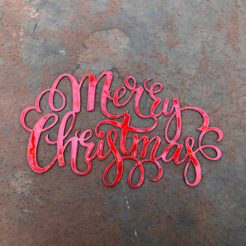 Merry Christmas Decorative Metal Script