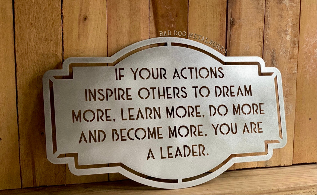 Inspire Others to Dream - Bad Dog CEO Series Decor