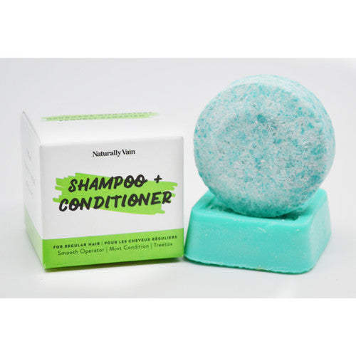 Shampoo & Conditioner Set for Normal Hair - Smooth Operator, Mint Condition, Treetox - Eco-Friendly, Natural and Organic Shampoo and Conditioner Bar Set for Regular Hair - 100% Handmade - Nohprec Experience
