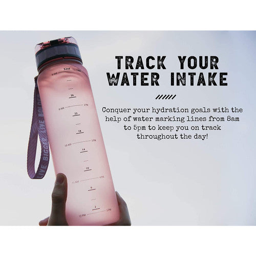 34oz Timeline Marked Sports Water Bottle | bottle | drinkware | drinkreminder | fruitinfuser | gift - Nohprec Experience