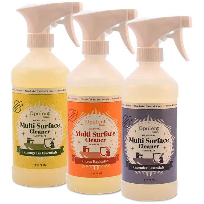All Natural Multi Surface Spray | All Purpose Natural Cleaner Spray | Multi-Surface Cleaner Spray | Spray Bottle, All-Purpose Household Cleaners | Scent - Citrus, Lavender, Lemongrass and Seasonal Scent