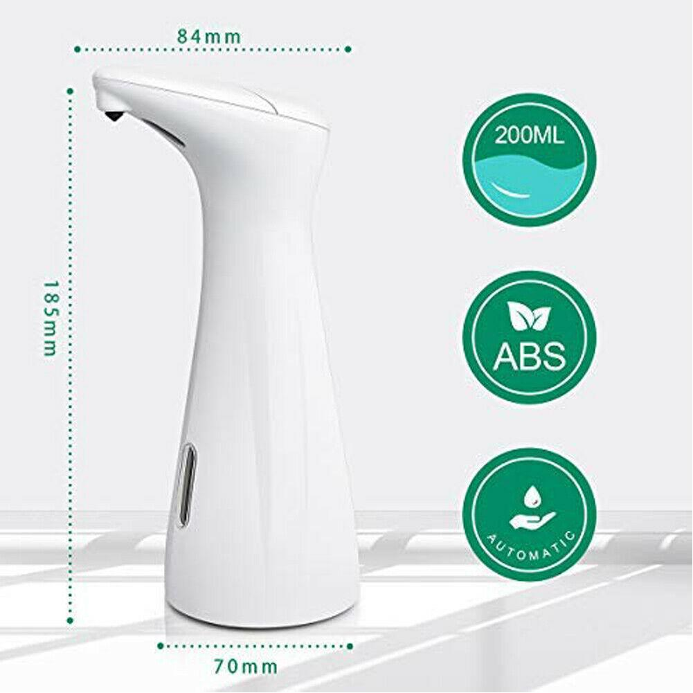 Automatic Washable Liquid Soap Dispenser Touchless Soap Dispenser for Home Bathroom Kitchen Hands Free Contactless 200ml - nohprec