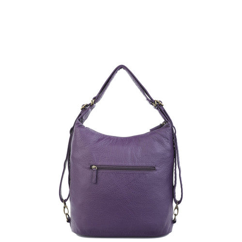 The Lisa Convertible Backpack Xbody - Purple | bags | wallet | totebags | crossbody | handbags | backpacks | gifts | accessories - Nohprec Experience