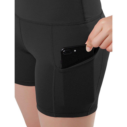 High Waisted Athletic Shorts with Side Pockets - Nohprec Experience