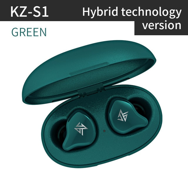 KZ S1 S1D TWS True Wireless Bluetooth 5.0 Earphones Dynamic/Hybrid Earbuds Touch Control Noise Cancelling Sport Headset - Nohprec Experience
