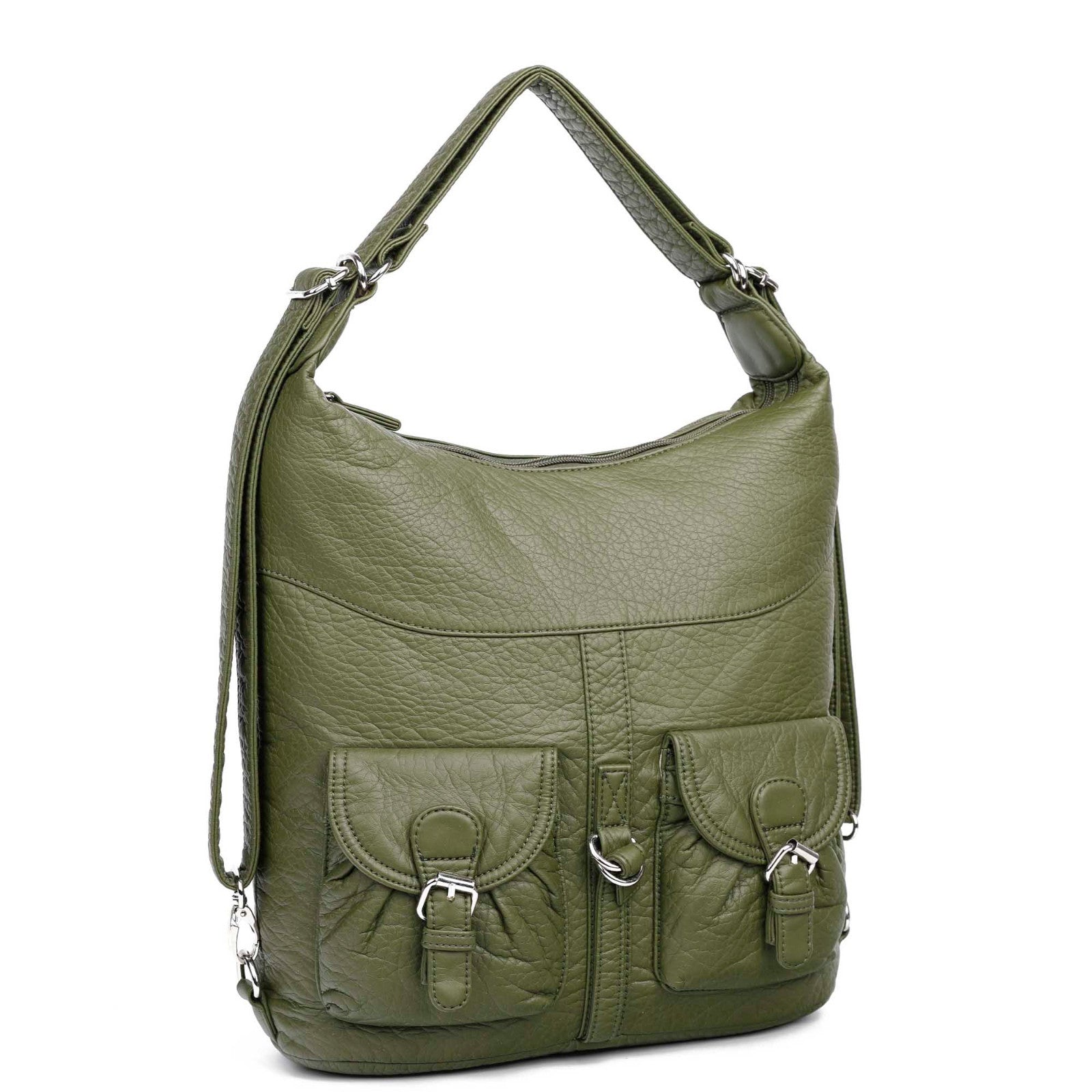 Convertible crossbody bag / Women Bags / Jane Convertible / Army Green - Nohprec Experience