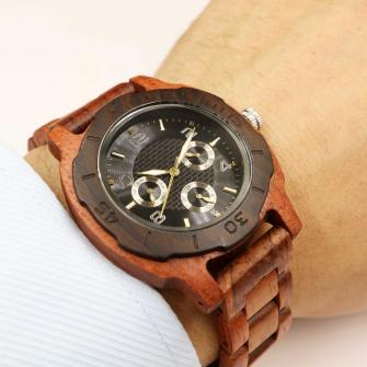 Wristwatch - Multi-Function Kosso Wooden Watch