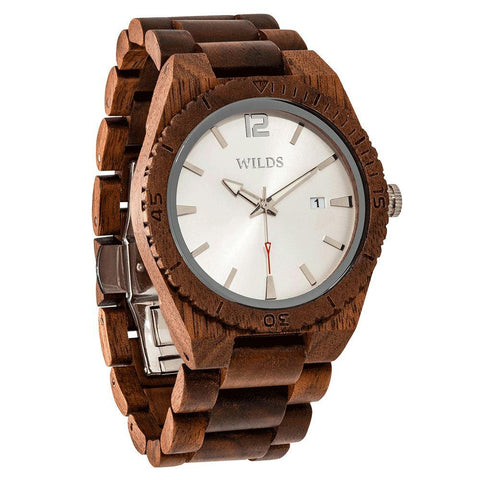 Image of Men's Custom Engrave Walnut Wooden Watch - Personalize Your Watch wooden watches Wilds Wood