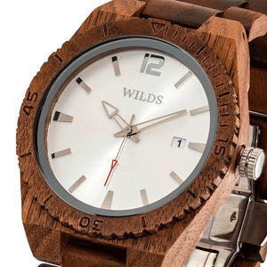 Men's Custom Engrave Walnut Wooden Watch - Personalize Your Watch