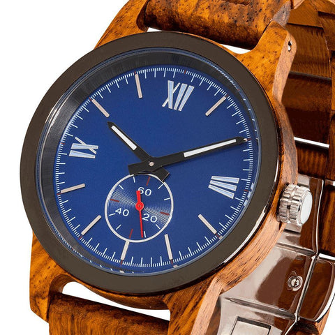 Image of Men's Handcrafted Engraving Ambila Wood Watch - Best Gift Idea! wooden watches Wilds Wood