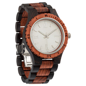 Men's Handcrafted Engraving Ebony & Kosso Wood Watch - Best Gift Idea! wooden watches Wilds Wood