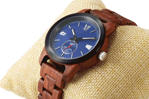 Image of Men's Handcrafted Engraving Kosso Wood Watch - Best Gift Idea! wooden watches Wilds Wood