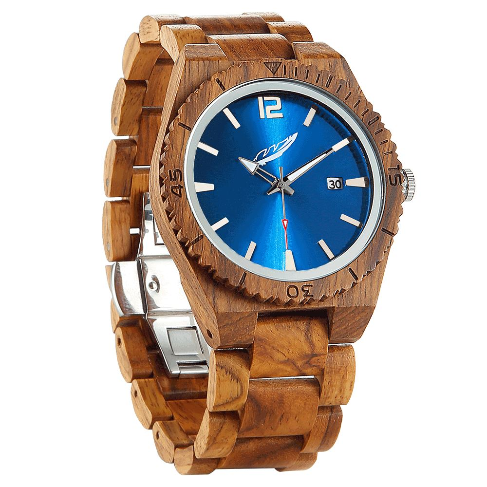 Men's Personalized Engrave Ambila Wood Watches - Free Custom Engraving wooden watches Wilds Wood