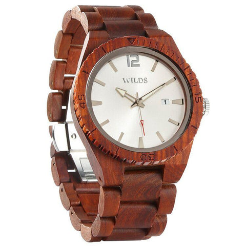 Image of Men's Personalized Engrave Rosewood Watches - Custom Engraving wooden watches Wilds Wood