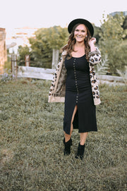 The Zoey Leopard Print Cardigan-Sweater-Style Trolley