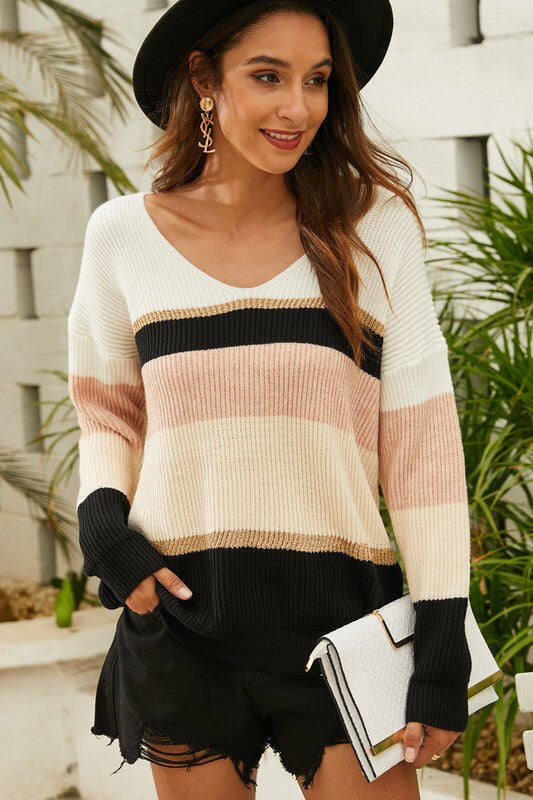The Addie Striped Sweater