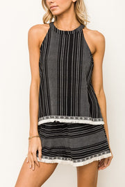 Textured Stripe Tank & Shorts Set-Style Trolley