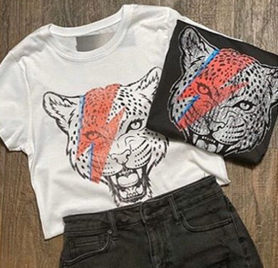 Bowie Leopard Graphic Tee-T-shirt-Style Trolley