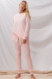 Solid French Terry Loungewear Set-Loungewear-Style Trolley
