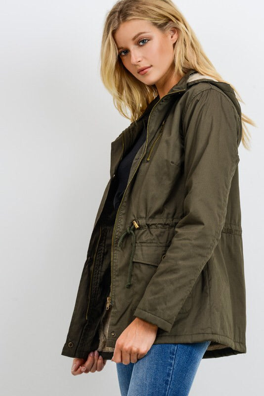 The Olive Utility Parka-Jacket-Style Trolley