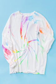 Neon Swirl Drop Shoulder Sweatshirt-Loungewear-Style Trolley