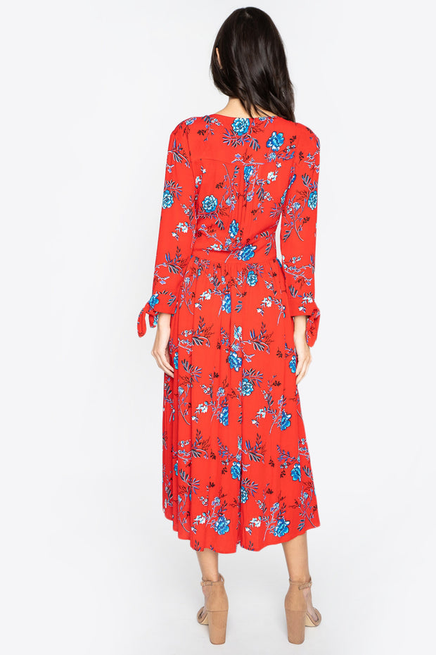 Crimson Rose Floral Midi-Dress-Style Trolley