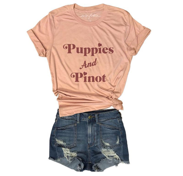 Puppies & Pinot Unisex Tee-T-shirt-Style Trolley