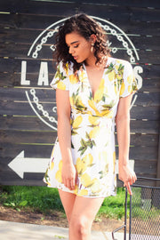 Lemon Bunch Wrap Dress-Dress-Style Trolley