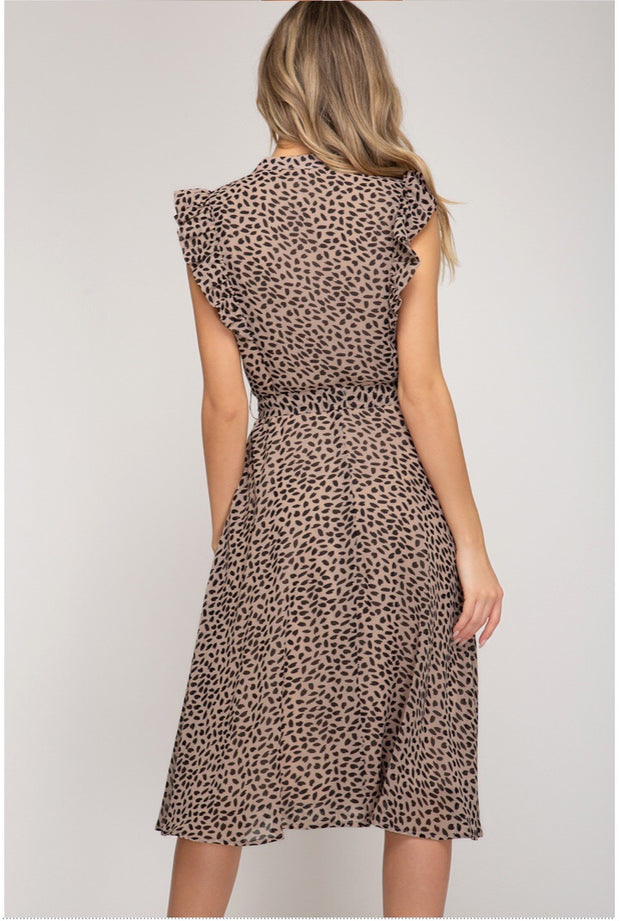 The Eva Leopard Midi Dress-Dress-Style Trolley