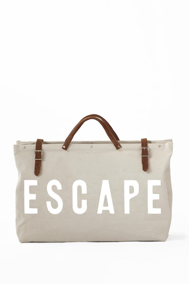 ESCAPE Canvas Bag- White on White-Bag-Style Trolley