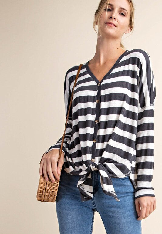 Jayne Striped Knit Top-Top-Style Trolley