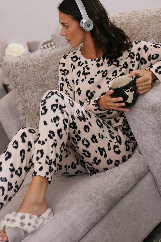 Super Soft Leopard Print Set-Loungewear-Style Trolley
