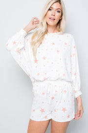Star Print French Terry Set-Loungewear-Style Trolley