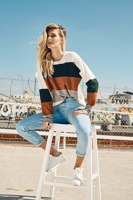 The Caitlyn Colorblock Sweater-Sweater-Style Trolley
