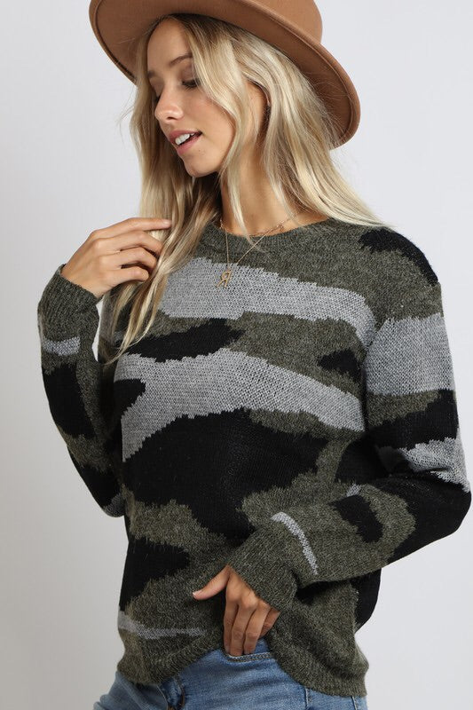 The Jenny Camouflage Sweater-Sweater-Style Trolley