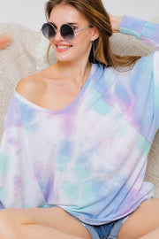 French Terry Tie Dye Top-Top-Style Trolley
