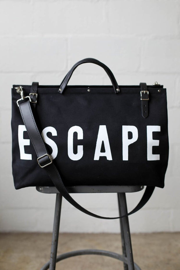 ESCAPE Canvas Bag- Black