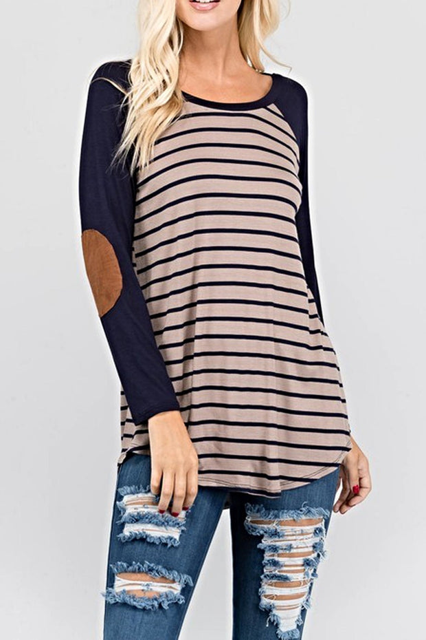 Anna Striped Tunic Top-Top-Style Trolley