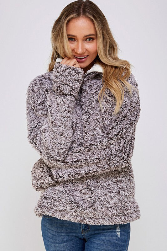Ultra Fuzzy Sherpa Pullover-Jacket-Style Trolley