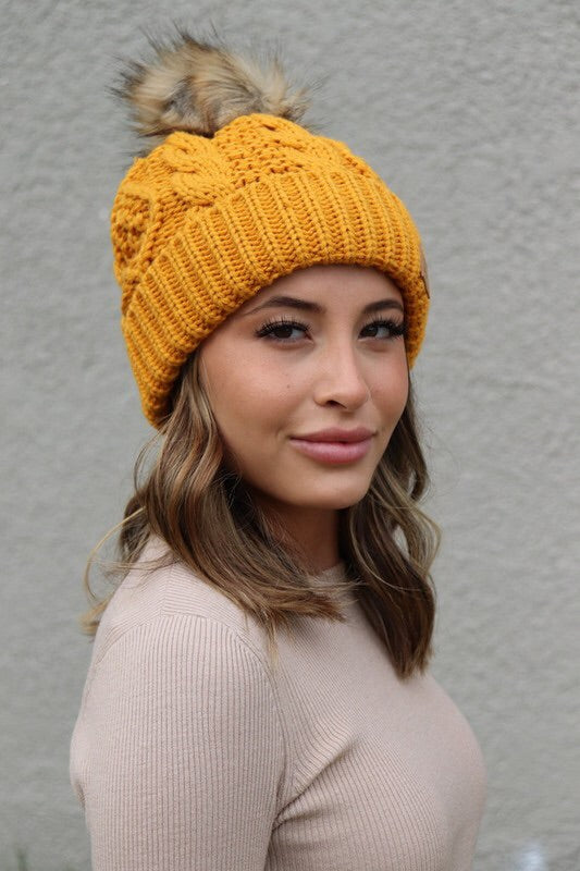 Cable Knit Beanie-Beanie-Style Trolley