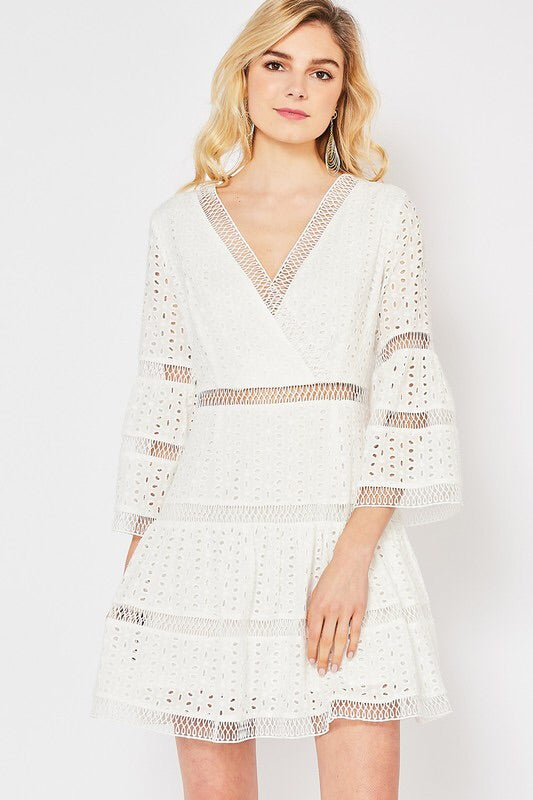 The Marissa Eyelet Sundress-Dress-Style Trolley
