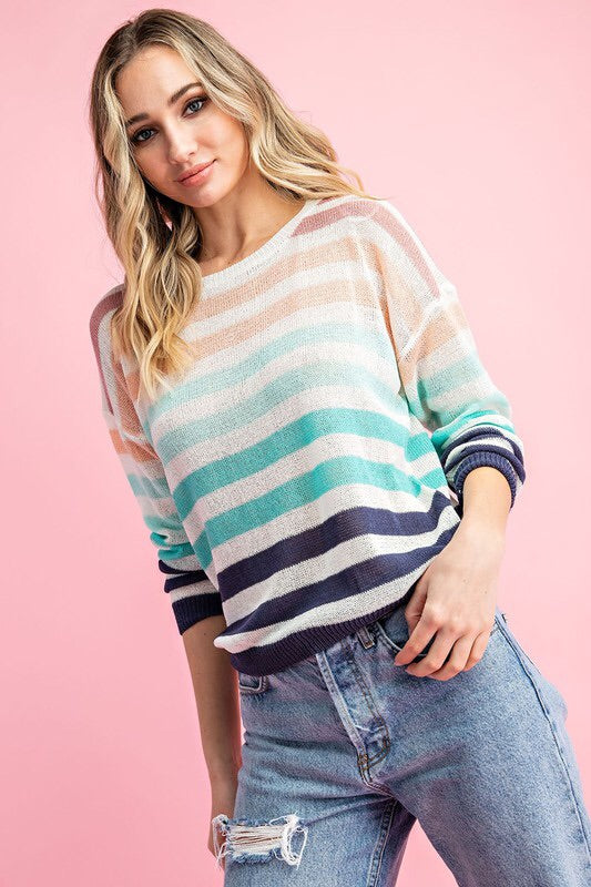 Samantha Striped Sweater-Sweater-Style Trolley