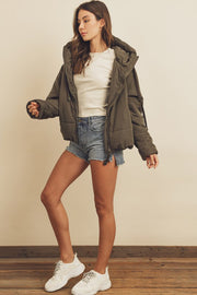 The Olive Puffer Jacket