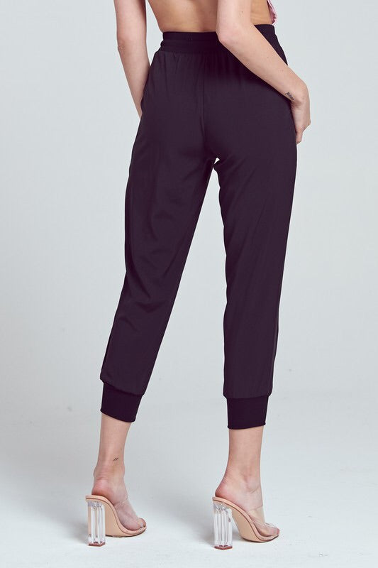 Black High Waisted Joggers-Bottoms-Style Trolley