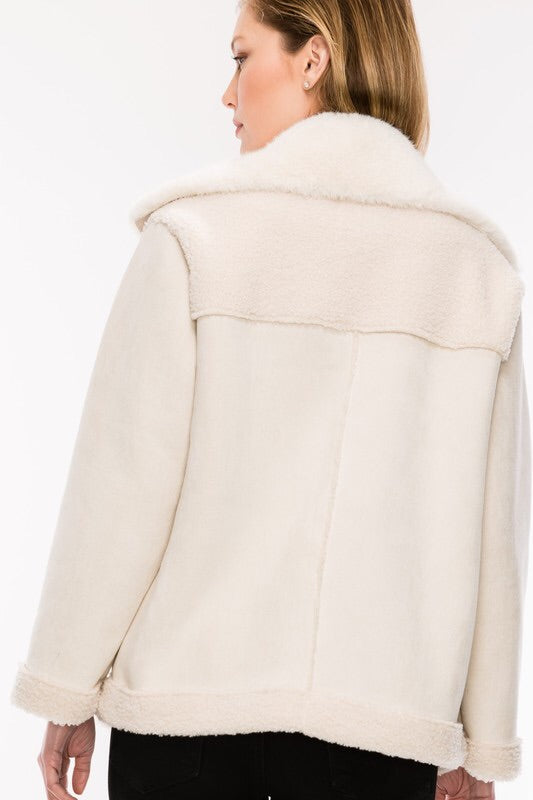 The Pennie Faux Shearling Jacket-Jacket-Style Trolley