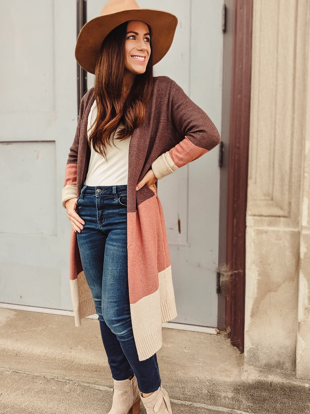 The Abby Colorblock Cardigan