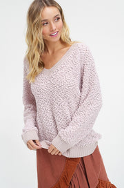 V-neck Popcorn Sweater-Sweater-Style Trolley